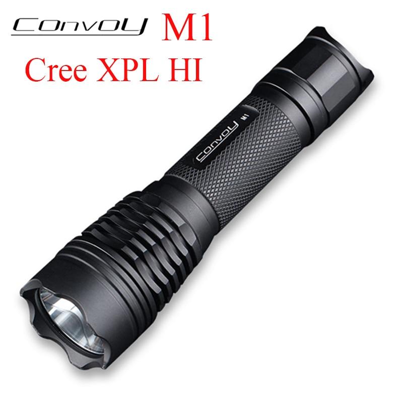 Convoy M1 with Cree XPL HI LED Flashlight Linterna LED 7135*8 Biscotti Torch 18650 Flash Light Bicycle Lamp High Powerful Light