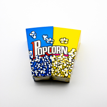 50PCS Popcorn Box Party Favors Kids Birthday Paper Boxes Wedding Yellow Blue Cup Children Bags Supplier