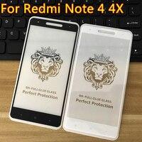 Vetro di protezione Per Per Xiaomi Redmi Nota 4 Nota 4X vetro Temperato Pellicola Della Protezione Dello Schermo 9H Vetro Curvo nota 4 Pellicola