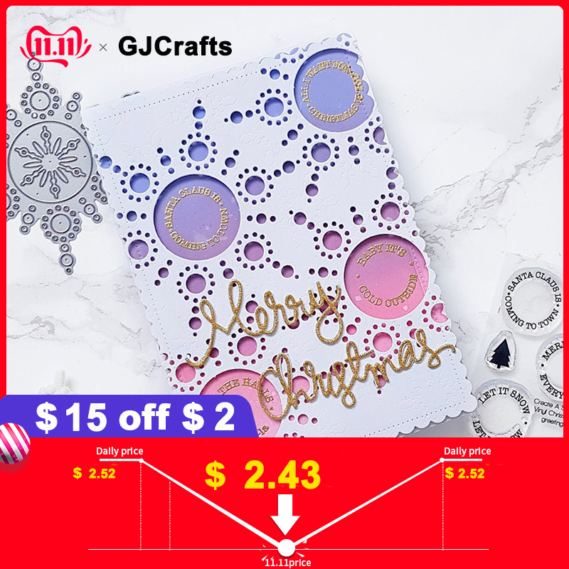 GJCrafts Christmas Snowflake Metal Cutting Dies New 2019 for Craft Scrapbooking Photo Die Cut Embossing Cutter Decoration