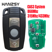 Chave de carro de 3 botões, para bmw e87 e60 e70 e90 e92 e71 e61 para bmw 1 3 5 7 series x5 x6 z4 chave remota 868mhz/315mhz/433mhz pcf7953