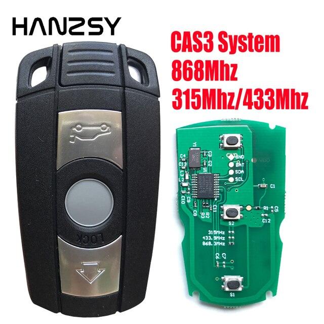 Clé télécommande à 3 boutons, 868Mhz/315Mhz/433Mhz PCF7953, pour voiture BMW série 1, 3, 5, 7, X5, X6, E87, E60, E70, E90, E92, E71, E61