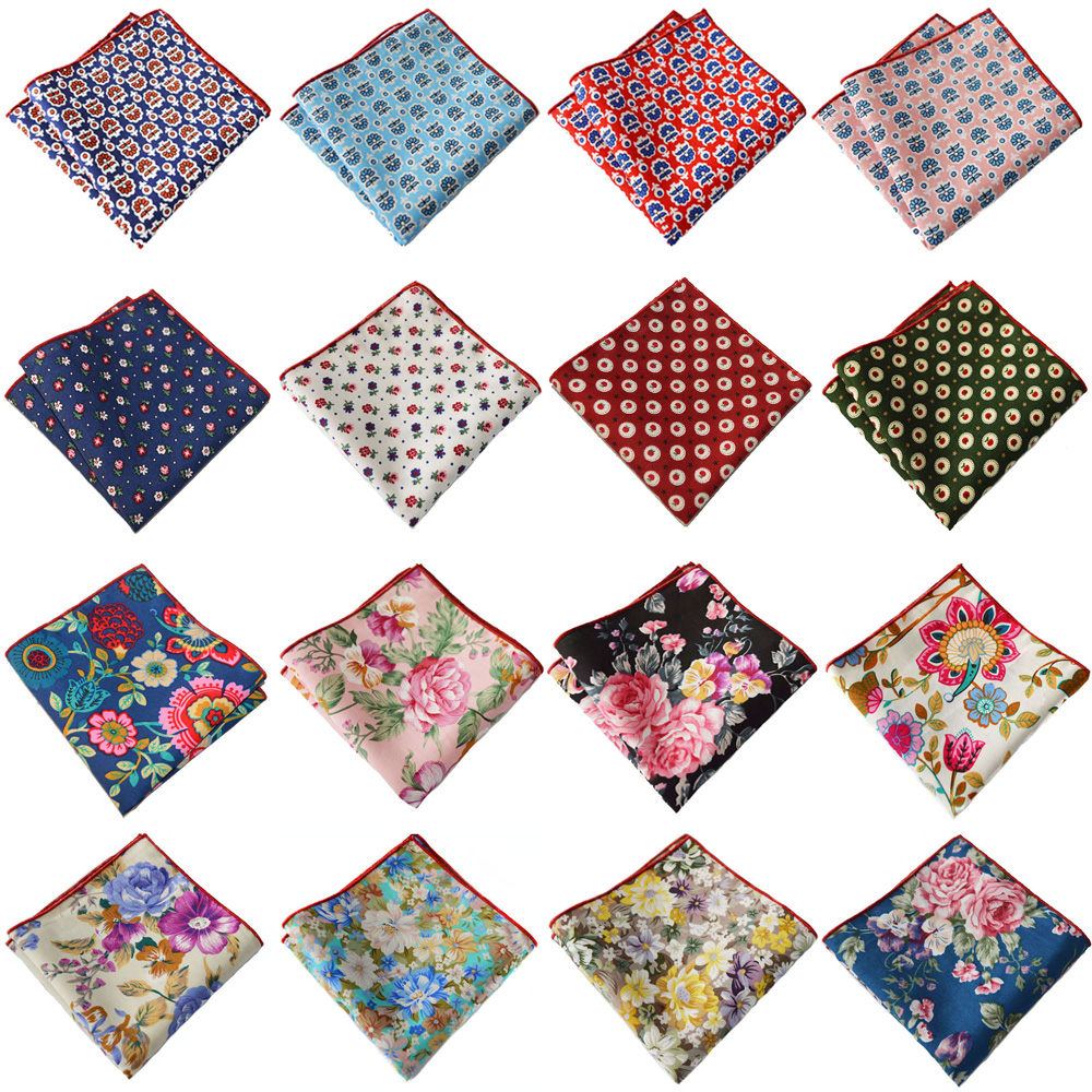 Men's Accessories Colorful Floral Printed Handkerchief Business Pocket Square BWTYX0320