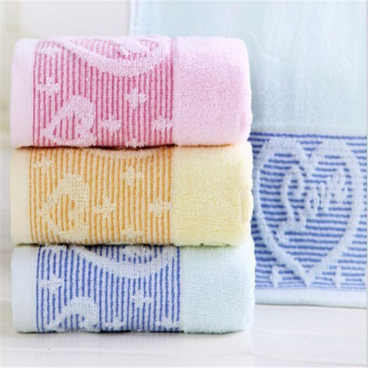 Smile Allure Gift Benifit Pure Cotton Towel Commodity Jacquard Peach Heart Wedding Beauty Face Towel image