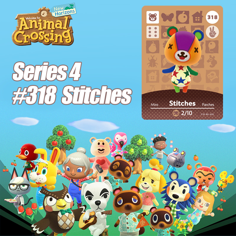 Animal Crossing New Horizons Card Amiibo Card Work For NS Switch Game  # 318 Stitches Cards Drop Shipping