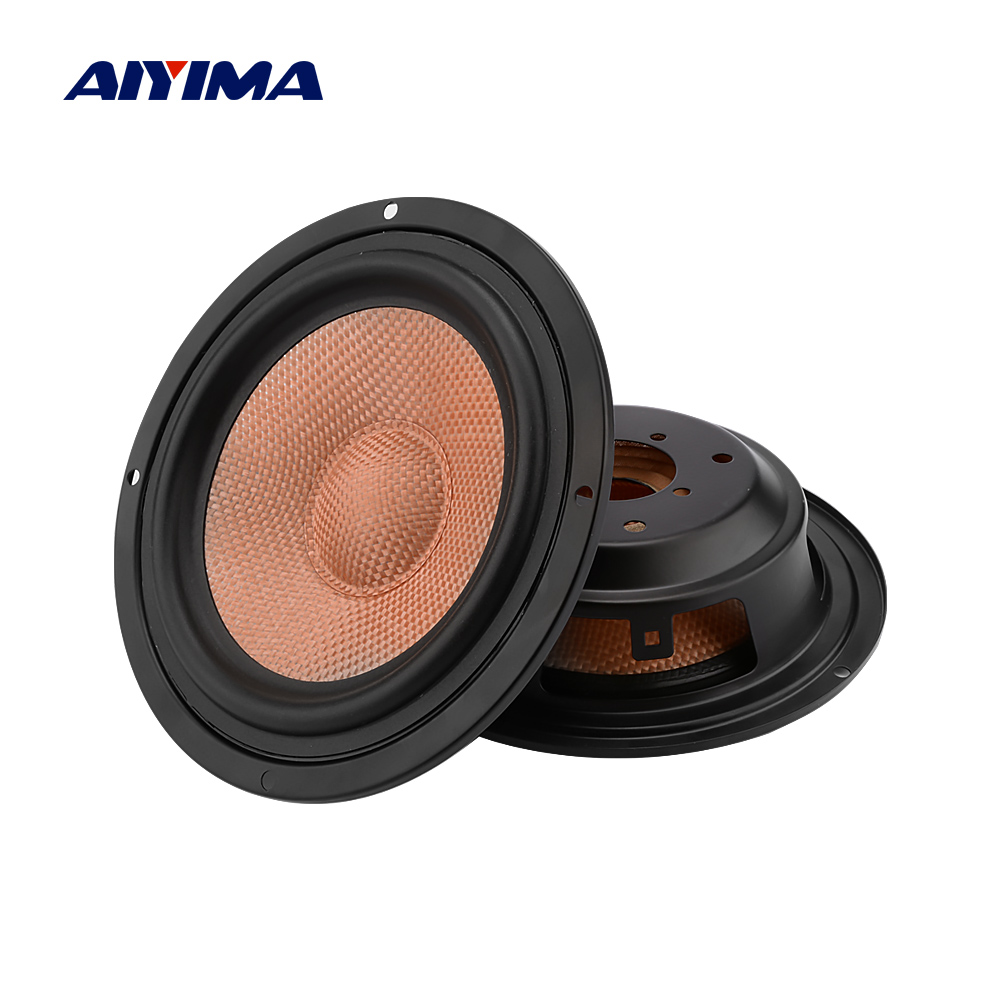 AIYIMA 2Pcs 6.5 Inch Speaker Woofer Passive Radiator Bass Radiator Passivo DIY Speaker Repair Kit Accessories Parts Sound System
