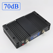 Lintratek repetidor de señal 70dB para teléfono móvil, dispositivo 4G LTE, 1800Mhz, 3G, WCDMA, 2100Mhz, amplificador de señal de banda Dual con pantalla lcd y AGC/MGC
