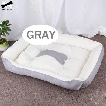 Bone Pet Bed Warm Pet Products For Small Medium Large Dog Soft Pet Bed For Dogs Washable House For Cat Puppy Cotton Kennel Mat 2