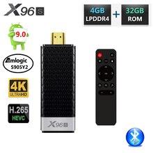 X96 X96S DDR4 4GB RAM 32GB ROM Mini PCสมาร์ทAndroid 9.0กล่องทีวีAmlogic S905Y2 TV Stick dongle WiFi Bluetooth 4K HD Media Player