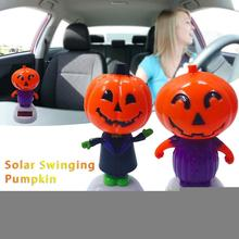 цена на AUTOECHO Solar Shaking Head Doll Solar Swinging Pumpkin Car Decoration Cartoon Car Doll Car Interior Jewelry Halloween Gift
