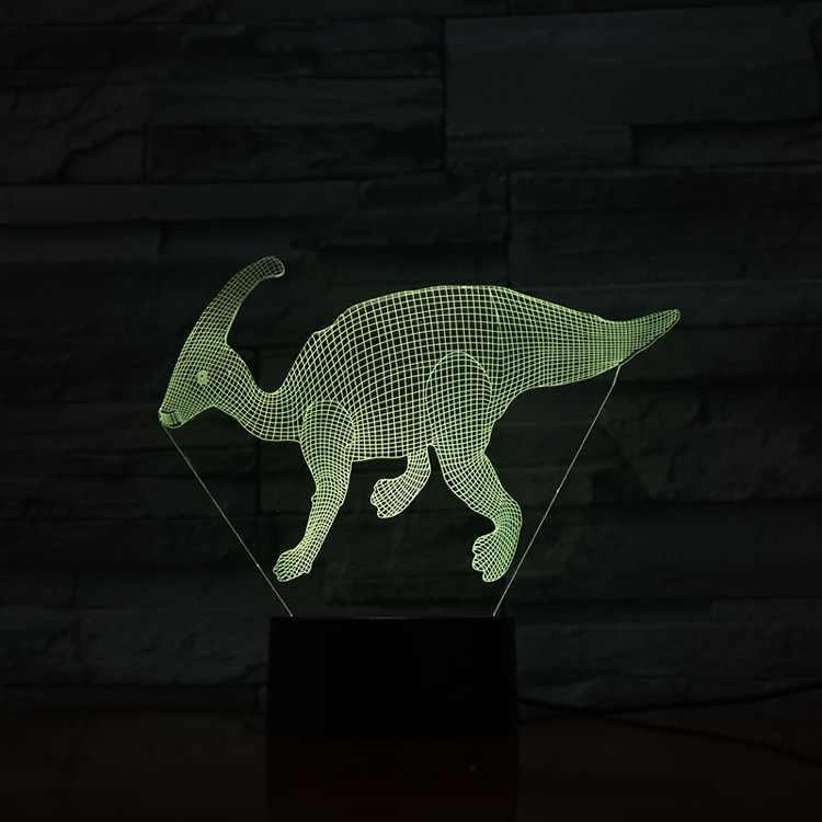 3D Đèn Bầu Không Khí Hoạt Động Bằng Pin Khủng Long Parasaurolophus Đổi Màu Khủng Ngày Lễ Hiện Đại Tặng Đèn Ngủ LED Đèn
