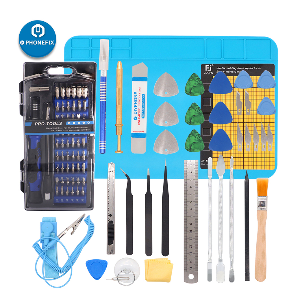 Professional Cell Phone Accessory Kits Professional 9 in 1 Replaceable Anti-Static Tweezers with Cross Screwdriver
