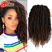 24 Roots/Pack Pre-looped Crochet Spring Twist Hair 18 inch Stretched Twists Brai