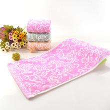 Ręcznik w nowym stylu tkanina z bambusu Zero Twist ręcznik domowy ręcznik dla dorosłych miękki ręcznik kąpielowy chłonny niezamówiony ręcznik w kwiaty tanie tanio Others 5s 10s 8052 Yellow Red Green
