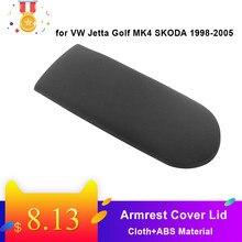 Couvercle noir pour accoudoir de Console centrale de voiture, pour VW Jetta Golf MK4 SKODA 1998 – 2005