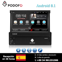 Podofo 7'' Android 8.1 Car Multimedia Player Support Android/ Iphone Mirror Link USB DVR input RCA HD 1080P Large screen radio