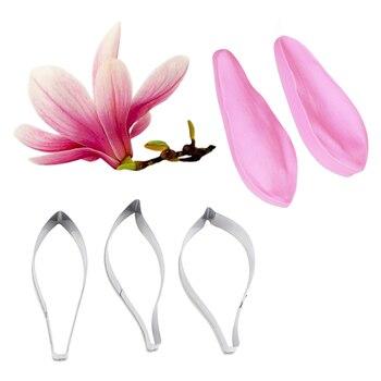 Kwiat magnolii płatek Veiner formy silikonowe kremówka Mold ciasto dekorowanie narzędzia czekoladowe Gumpaste, Sugarcraft Mold CS233