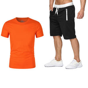 T-Shirt Shorts Two-Piece-Suit Casual Summer New in Hot-Products Beautiful Men