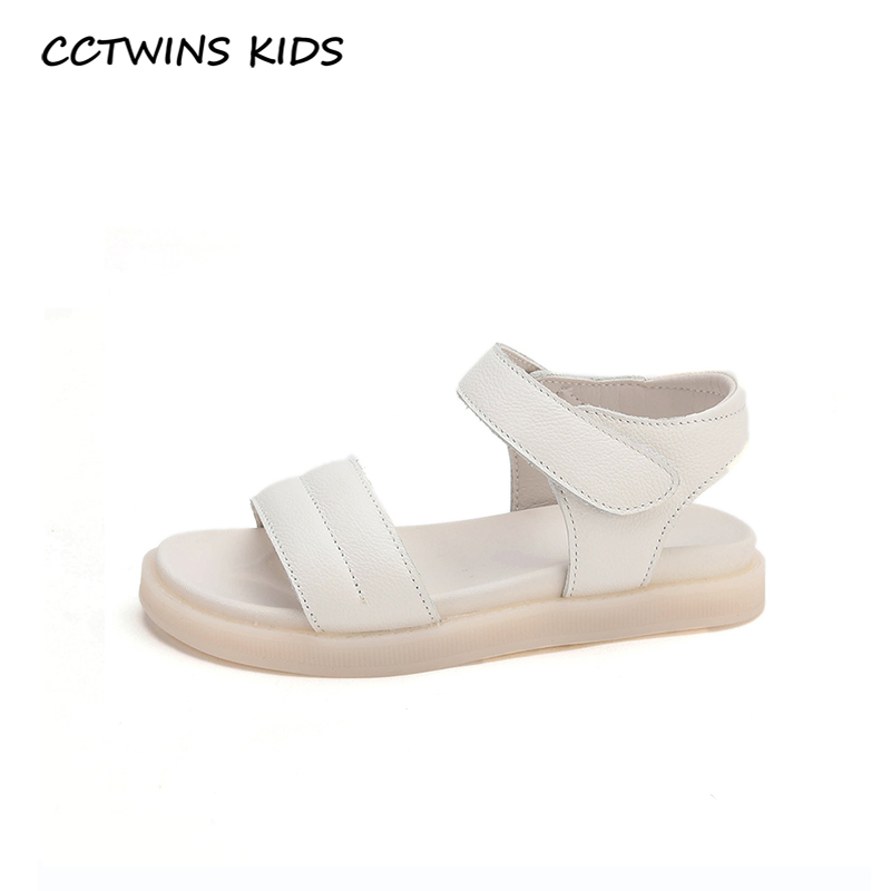 CCTWINS Kids Shoes 2020 Summer Children Fashion Beach Sandals Baby Girls Brand Soft Flat Toddlers Genuine Leather Flat BS515