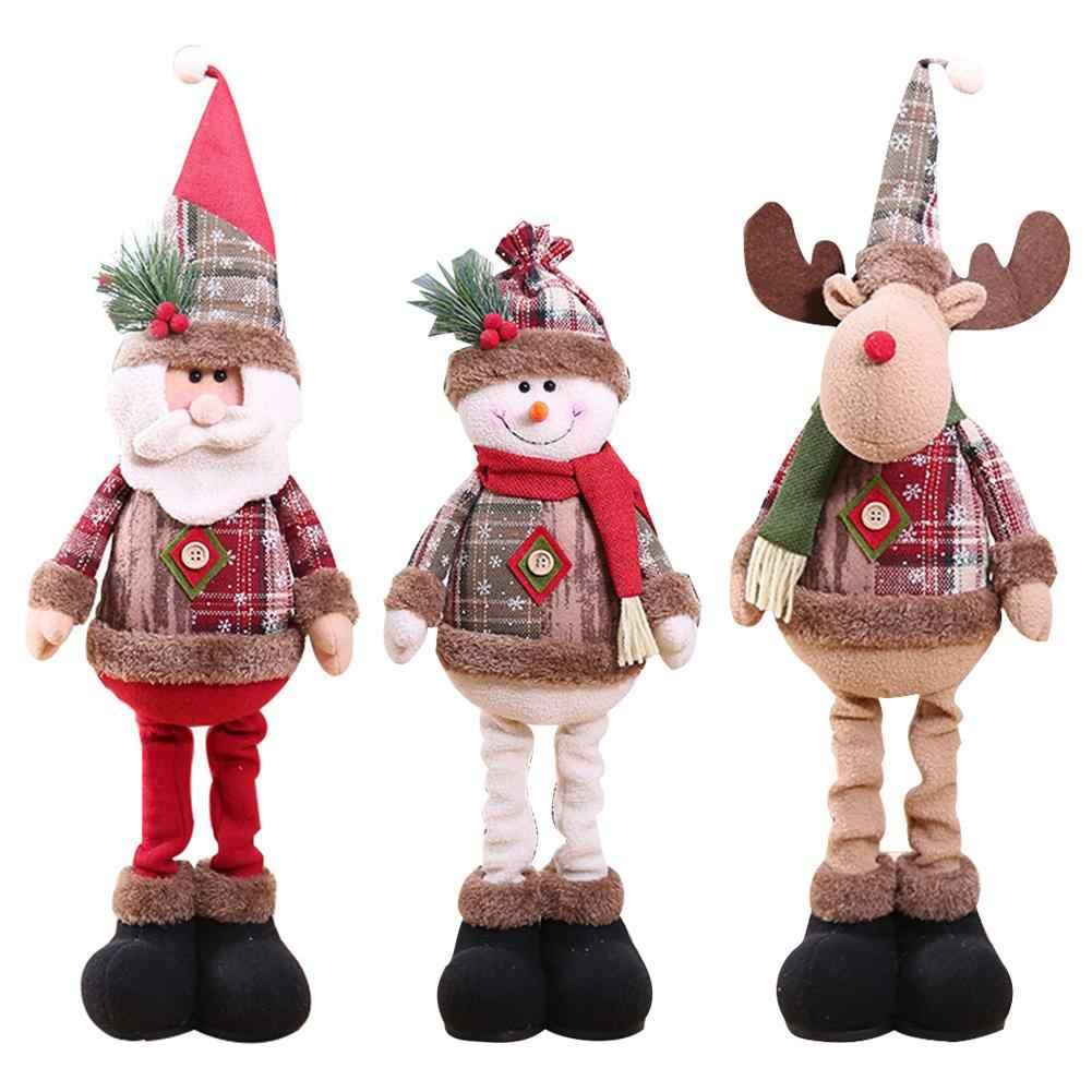 1/3pcs Bambole Di Natale Di Natale Decorazioni Per La Casa di Natale Babbo Natale Pupazzo di Neve Renna Bambola Decorazioni Albero di Natale Per I Bambini regalo
