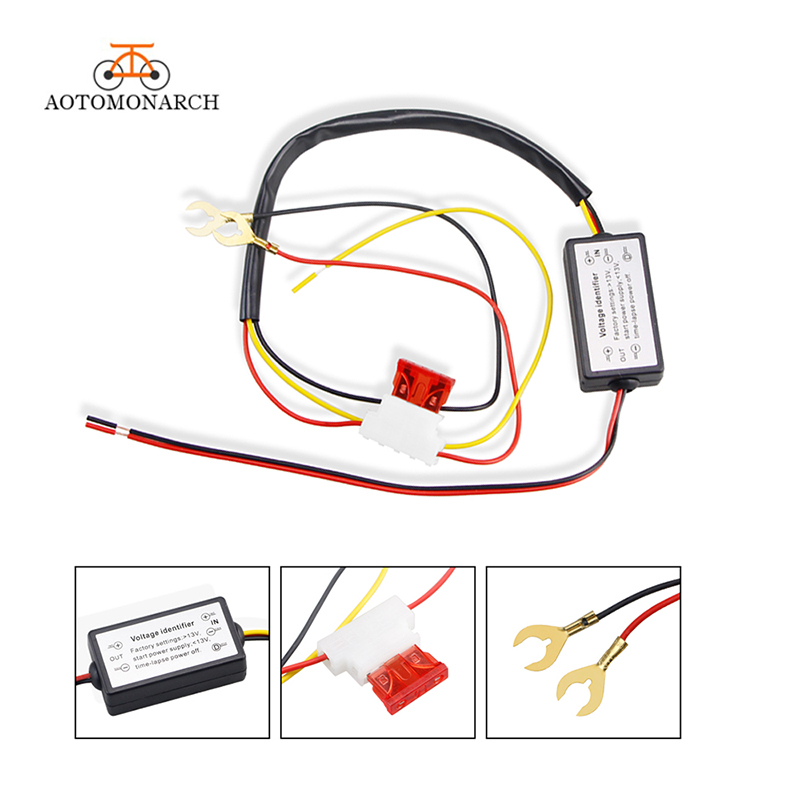 AOTOMONARCH DRL Controller Auto Car LED Daytime Running Light Relay Harness Dimmer On/Off 12V Fog Light Controller 2019  CJ