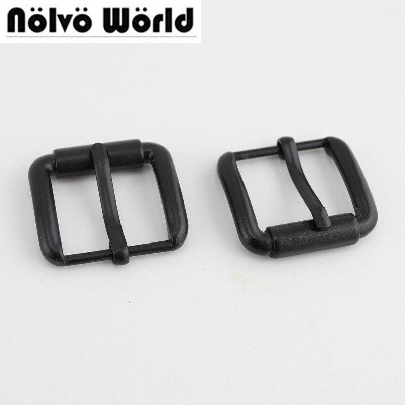 10pcs 50pcs 25mm Dark Black Color Turnbuckle Zinc Alloy Square Pin Buckle Bags,rose Gold Belts Buckles