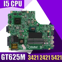 12204 1 Laptop motherboard for DELL INSPIRON 3421 2421 5421 Test original mainboard I5 CPU GT625M Graphics card 8 memory