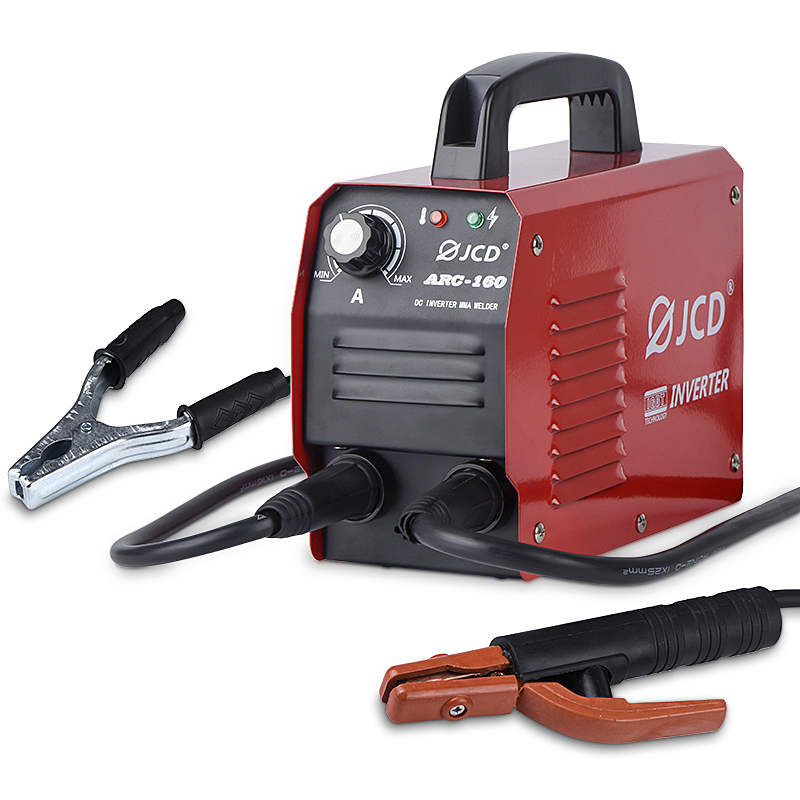 JCD-soldador de arco inversor de CC de 220V, máquina de soldadura IGBT MMA, 160/200 Amp, LCD Digital, Micro soldador ajustable para soldadura casera