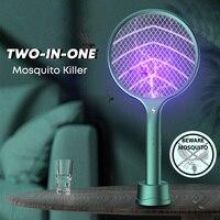 Elektrische 3500V Zwei-in-One-10 LED Falle Moskito Mörder Lampe Bug Zapper USB Aufladbare Sommer Hause fliegen Klatsche Falle Fliegen Insekt