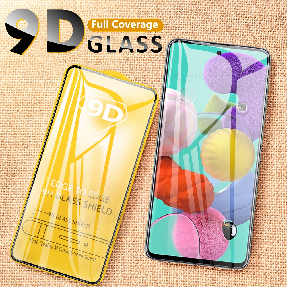 9D Full Cover Tempered <font><b>Glass</b></font> For <font><b>Samsung</b></font> Galaxy A51 A71 <font><b>Glass</b></font> Protection For <font><b>Samsung</b></font> GalaxyA51 A71 Front Screen Protective <font><b>Glass</b></font> image