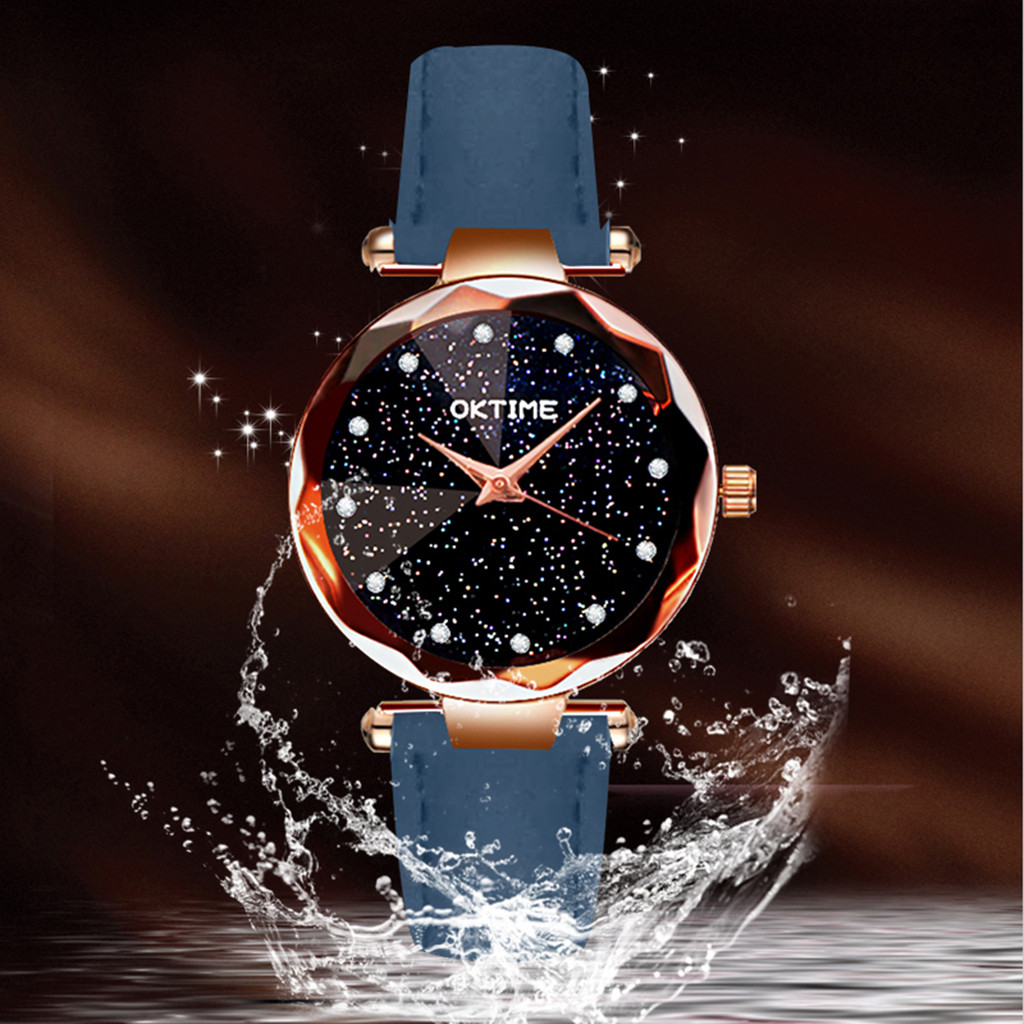 Womens Romantic Starry Sky Faux Leather Analog Quartz Watch relgio feminino Special creative leather ladies watches 2020 Gift