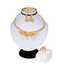 African Big Beads Women Necklace/Earrings/Pendant Jewelry Set For Women Gold Color/Copper African/Ethiopian Wedding/Party Gifts vintage women jewelry set allah necklace bracelet earrings set women s gold color islamic religion african muslim for party