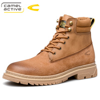 2020 new arrivals high quality Men Genuine leather Martins Boots Platform Shoes Leather Wool Winter Warm Winter Boots brown