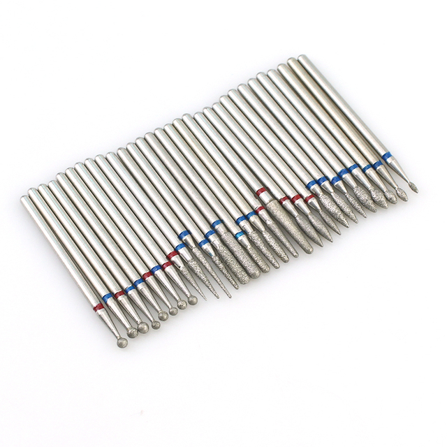 1pc Diamond Milling Cutters For Manicure Rotary Nail Drill Bit Eletric Pedicure Machine Equipment Cuticle Remove Tools 2