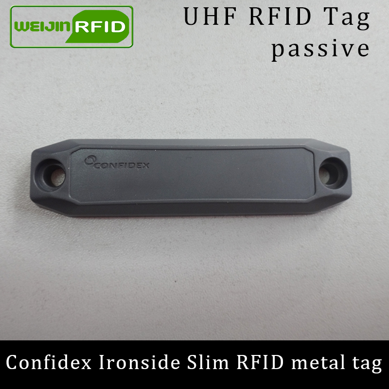 UHF RFID Anti-metal Tag Confidex Ironside Slim 915mhz 868mhz Impinj Monza4QT EPCC1G2 6C Durable ABS Smart Card Passive RFID Tags