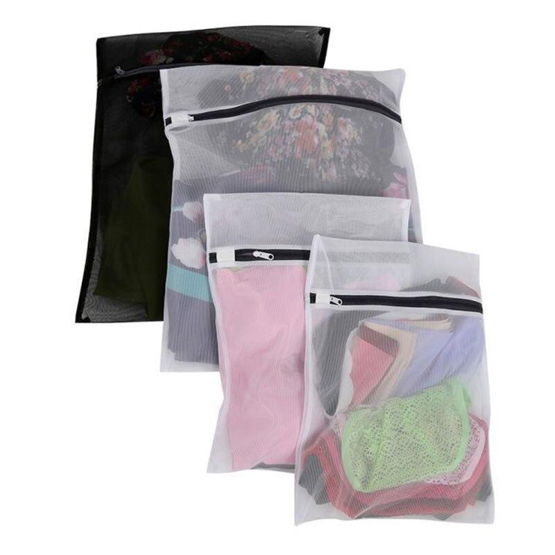 4pcs Set Clothes Laundry Mesh Net Bag Pouch For Washing Machine Bra Underwear THIN889