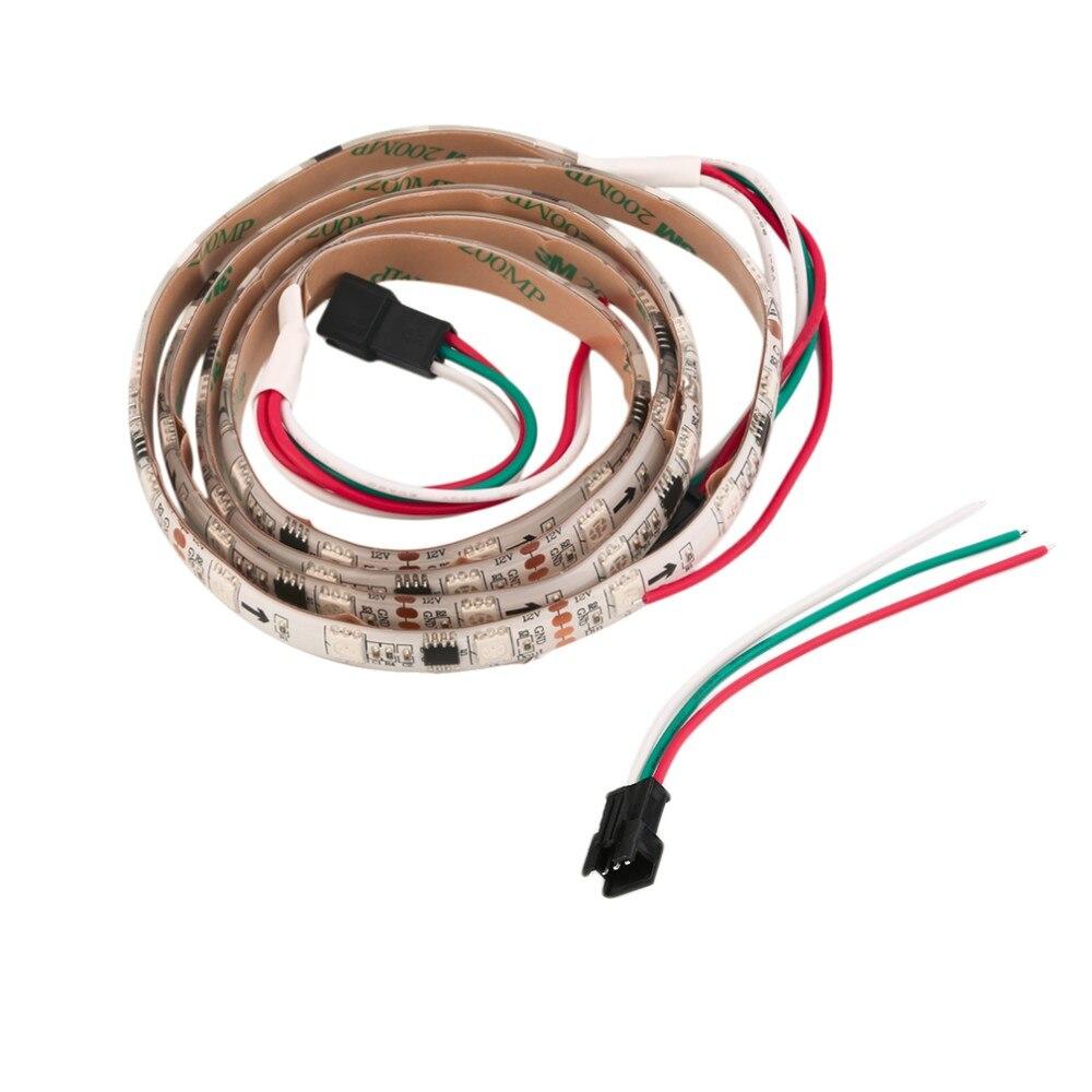 Icoco-fita de luz led ws2811, 12v, 48led