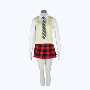 Женский костюм для косплея Maka Albarn, костюм-Тренч с юбкой для девочек и женщин, карнавальный костюм с париком, 6 шт.