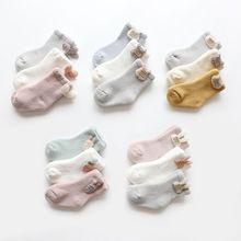 3 Pairs/lot 0 to 24M Autumn Winter Warm Baby Socks Super Thick Terry Socks For Newborns Infants Girs Cute Animal Kids Socks Boys