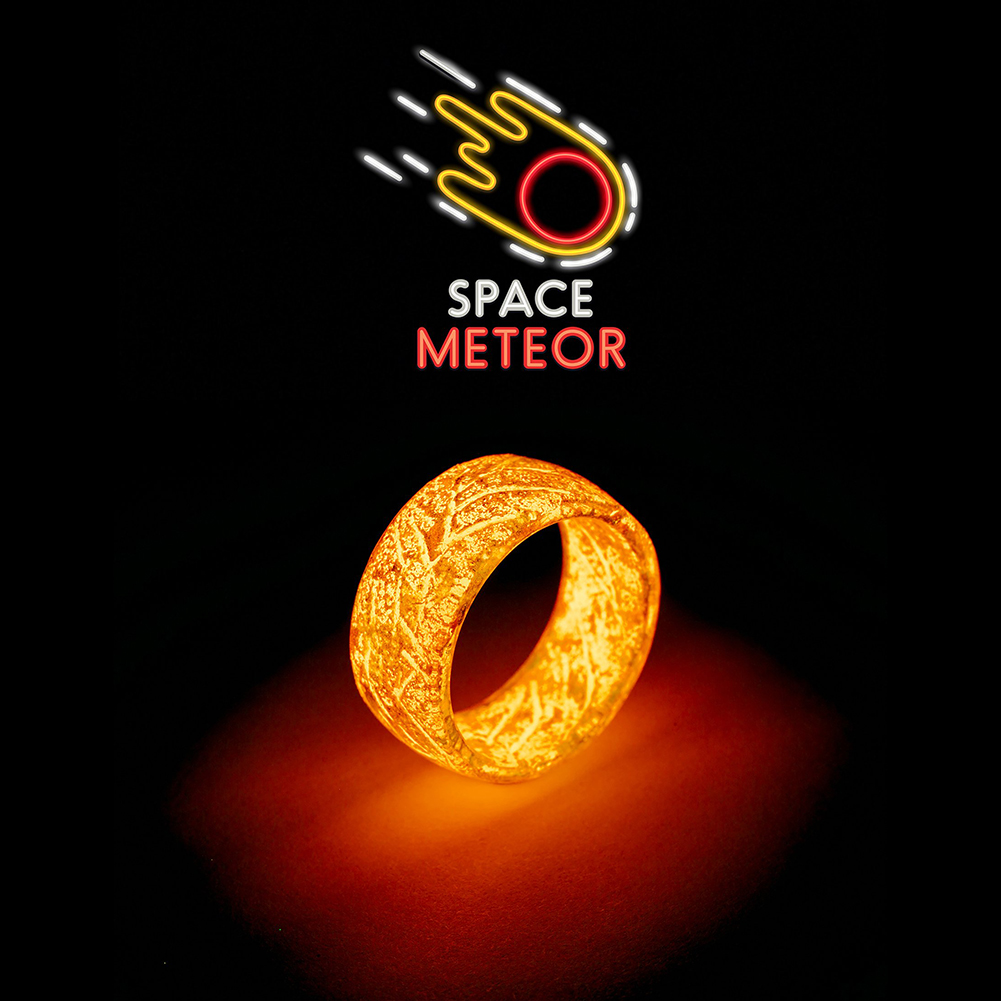 Glow Resin Ring Christmas Luminous Ring Toy Gift for Kids Men Women Size 7-11 Fashion Jewelry Jewelry & Accessories