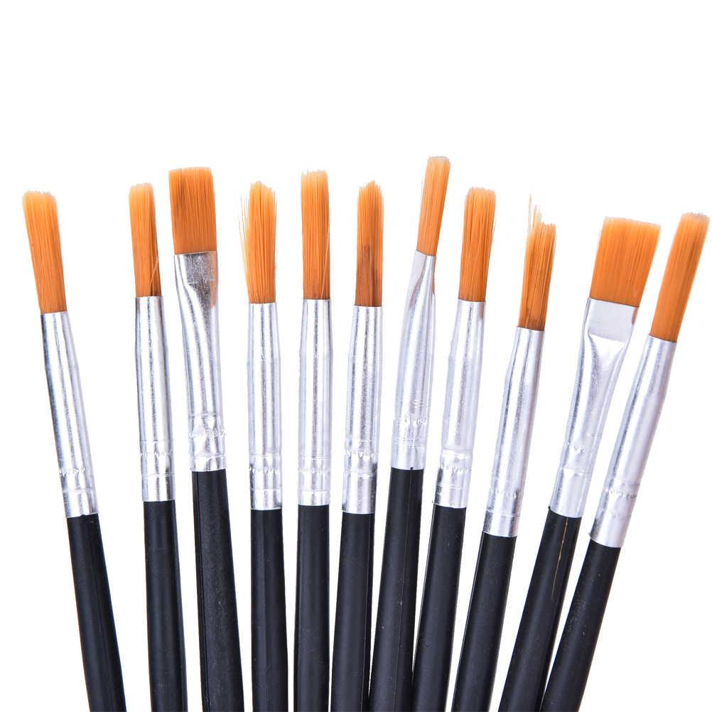 6-12 pcs Schilderen Borstel Set Nylon Haar Aquarel Gouache Acryl Olieverf Penselen Tekening Art Supply