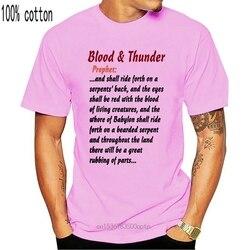 Blood & Thunder Prophet - - Monty Python'S Life of Brian Mens T-Shirt 2020 Fashion Short Sleeve Black T Shirt