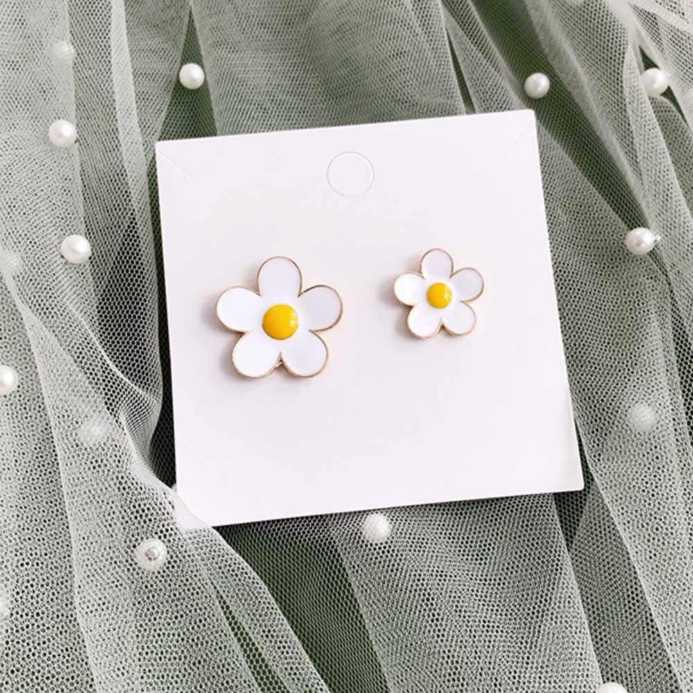 ไม่มีหูง่ายเครื่องประดับเคลือบสีขาวดอกไม้คลิปบนต่างหูไม่เจาะหูต่างหู kolczyki boucle d'oreille