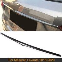 Car Rear Trunk Side Spoiler Wing For Maserati Levante Base S Sport Utility 4 Door 2016 2020 Rear Middle Spoiler Carbon Fiber
