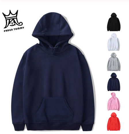 Men's Fashion Cotton Solid Color Custom 2D Diverse Creative Style Hoodies Loose Printed Casual Hooded Sweatshirt