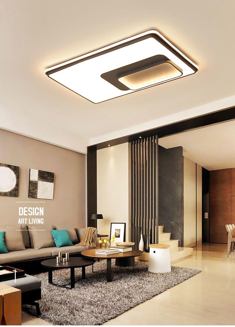 Ceiling lamp rectangular room lamp bedroom lighting simple modern living  room lamp led ceiling lamp
