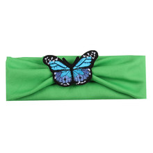 Newly Cute Knitted Butterfly Headband Headwraps Hair Band Newborn Baby Girls Hair Accessories IR-ing(China)