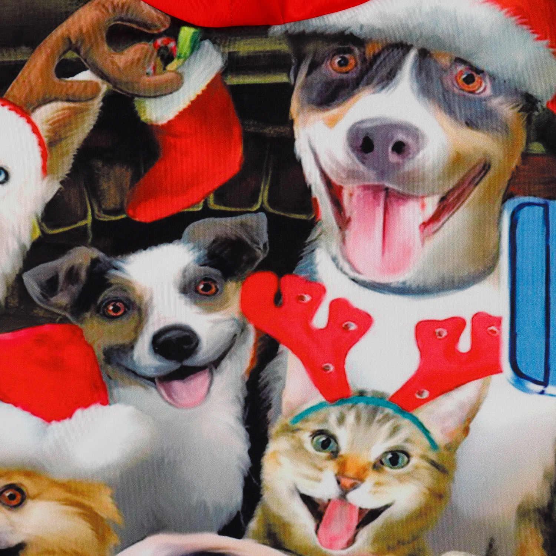Giáng Sinh mới nóng động vật 3D in kỹ thuật số Bóng Chày Bộ quần áo lớn kích thước áo trùm cặp đôi áo len