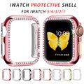 Алмазный Бампер Защитный чехол для Apple Watch серии 5 4 3 2 1 38 мм 42 мм Чехлы для Iwatch 5 4 40 мм 44 мм аксессуары для часов