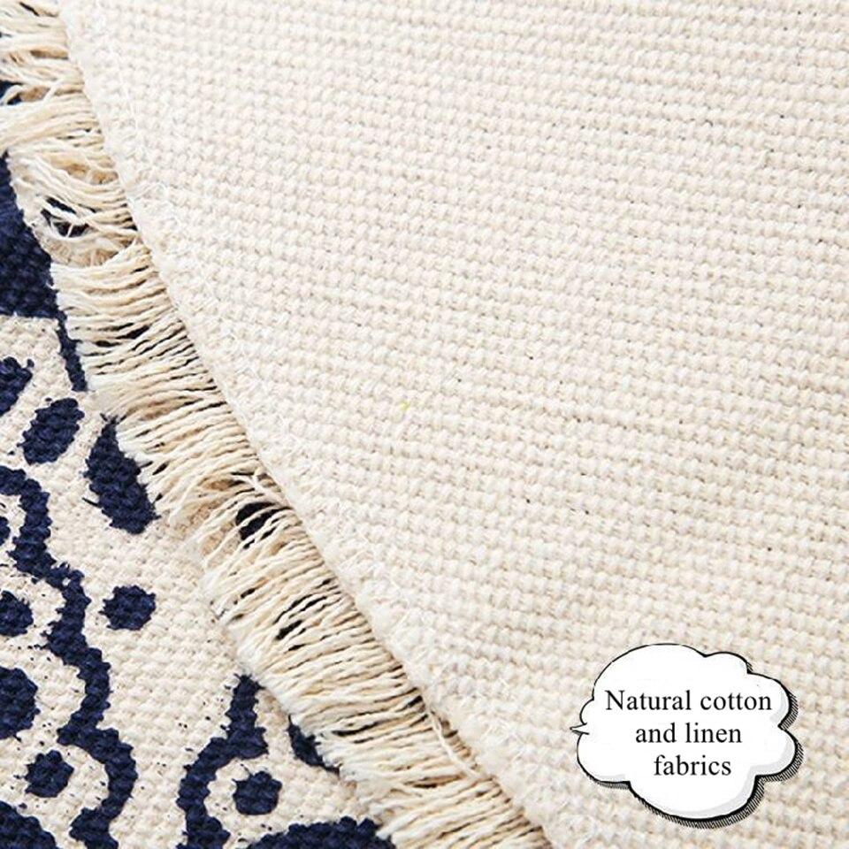 Image 4 - Morocco Round Carpet Bedroom Boho Style Tassel Cotton Rug Hand Woven National Classic Tapestry Sofa Cushion Tatami Floor MatsCarpet   -